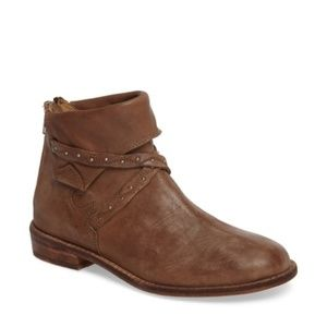 Free People Alamosa Bootie Size 8 Color Taupe